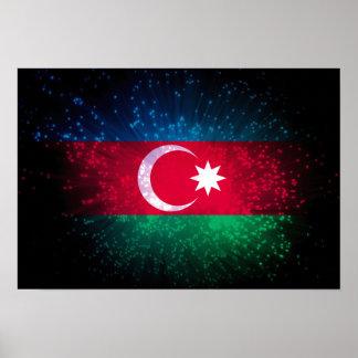 Azerbaijan Flag Firework Posters