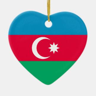 Azerbaijan Flag Heart Ornament