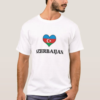 Azerbaijan Flag Heart T-Shirt