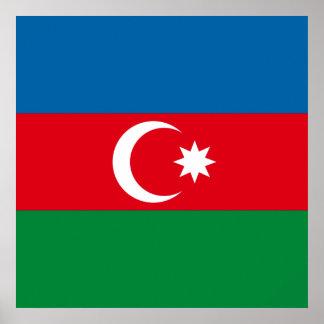 Azerbaijan Flag Print