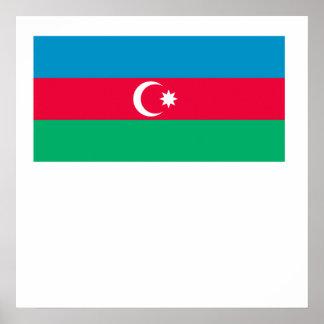 Azerbaijan Flag Poster