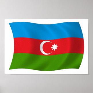 Azerbaijan Flag Poster Print