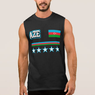Azerbaijan Flag Sleeveless Shirt