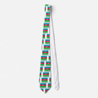 Azerbaijan Flag with name in Russian Tie