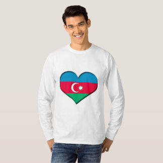 Azerbaijan Heart Flag T-Shirt