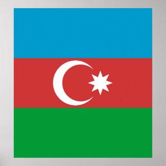 Azerbaijan High quality Flag Poster