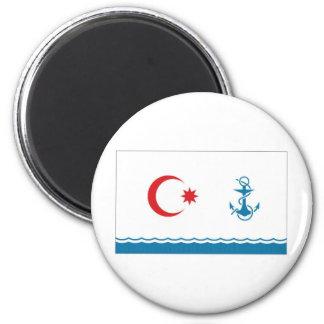 Azerbaijan Naval Ensign 6 Cm Round Magnet