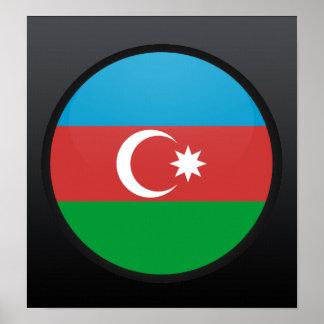 Azerbaijan quality Flag Circle Print