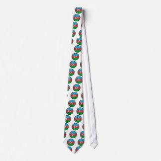 Azerbaijan quality Flag Circle Custom Tie
