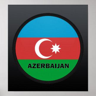 Azerbaijan Roundel quality Flag Print