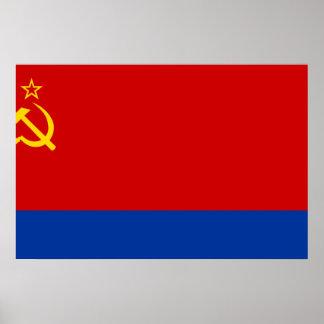 Azerbaijan Ssr, Azerbaijan flag Print