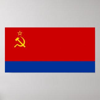 Azerbaijan Ssr, Azerbaijan flag Poster