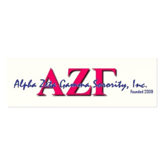 AZG Skinny Cards Business Card Template