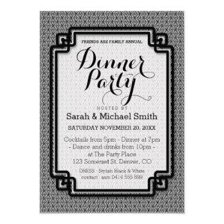 Azika S1 Black+White Dinner Party Invitation