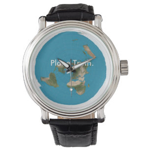 Azimuthal Equidistant Flat Earth Timekeeping Piece Watch