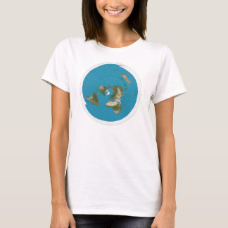 Azimuthal Equidistant map (f) T-Shirt
