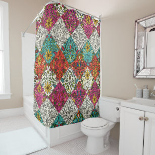 Aziza Patchwork Shower Curtain