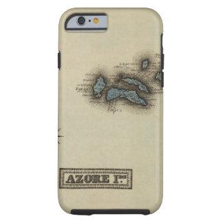 Azore Islands Atlas Map Tough iPhone 6 Case