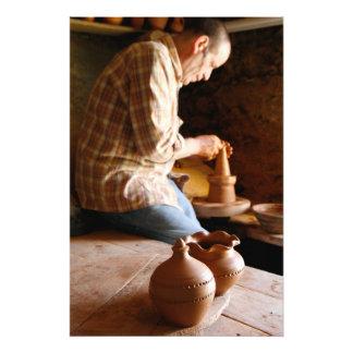 Azorean potter at work photo