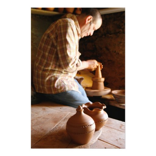 Azorean potter at work photograph