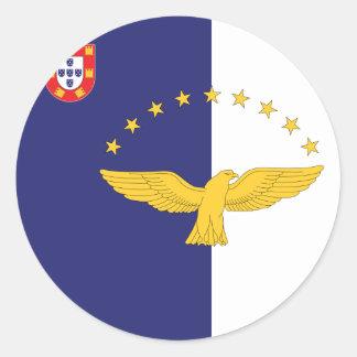 azores classic round sticker