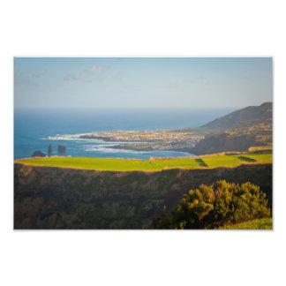 Azores coastal landscape art photo