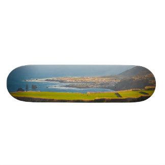 Azores coastal landscape skate deck