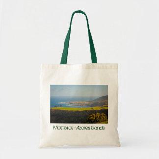 Azores coastal landscape budget tote bag