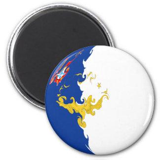 Azores Gnarly Flag Fridge Magnet