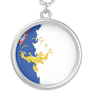 Azores Gnarly Flag Round Pendant Necklace
