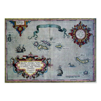 Azores Historic Map Poster