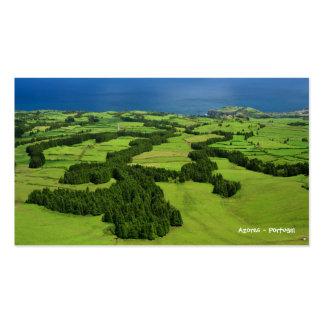 Azores landscape - Pocket Calendar Pack Of Standard Business Cards