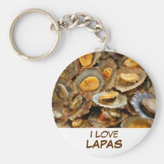 "Azores limpets ""lapas"" basic round button key ring"
