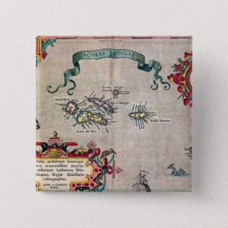 Azores Old Map - Vintage Sailing Exploration 15 Cm Square Badge