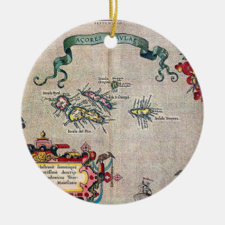 Azores Old Map - Vintage Sailing Exploration Christmas Ornament