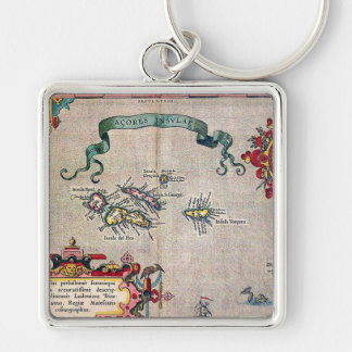 Azores Old Map - Vintage Sailing Exploration Key Ring