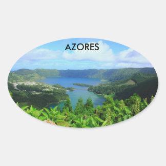 Azores Oval Sticker