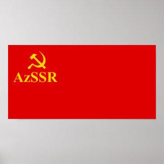Azssr, Azerbaijan flag Print