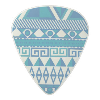 Aztec abstract pattern acetal guitar pick