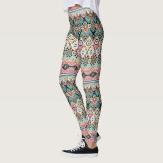 Aztec abstract pattern leggings