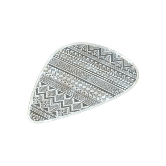 Aztec abstract pattern pearl celluloid guitar pick