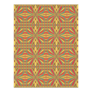 Aztec American Pattern. Multicolor Design 21.5 Cm X 28 Cm Flyer