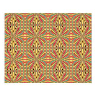 Aztec American Pattern. Multicolor Design 11.5 Cm X 14 Cm Flyer