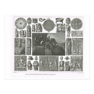 Aztec and Mayan rites, figures and artefacts Postcard