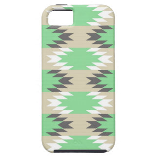 Aztec Andes Tribal Green Gray Native American iPhone 5 Case