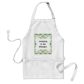 Aztec Andes Tribal Green Gray Native American Standard Apron