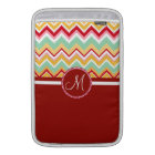 Aztec Andes Tribal Mountains Chevron Fiesta ZigZag MacBook Sleeve