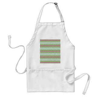 Aztec Andes Tribal Mountains Chevron Zig Zags Apron