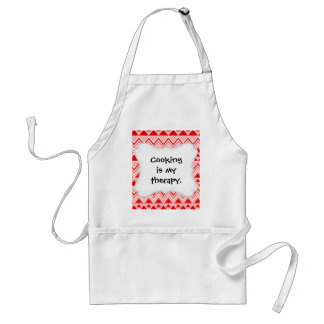 Aztec Andes Tribal Mountains Triangles Chevron Red Standard Apron