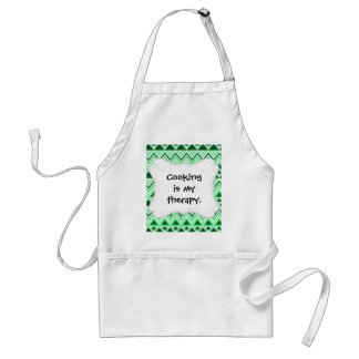 Aztec Andes Tribal Mountains Triangles Green Standard Apron